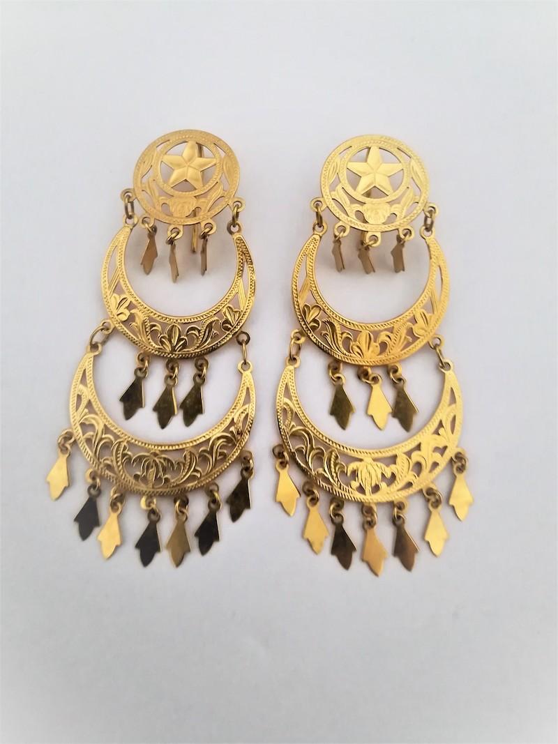orecchini oro giallo pendenti