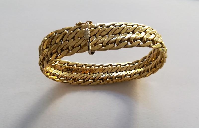 bracciale oro giallo a fascia